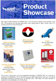WEFTEC Product Showcase Sample