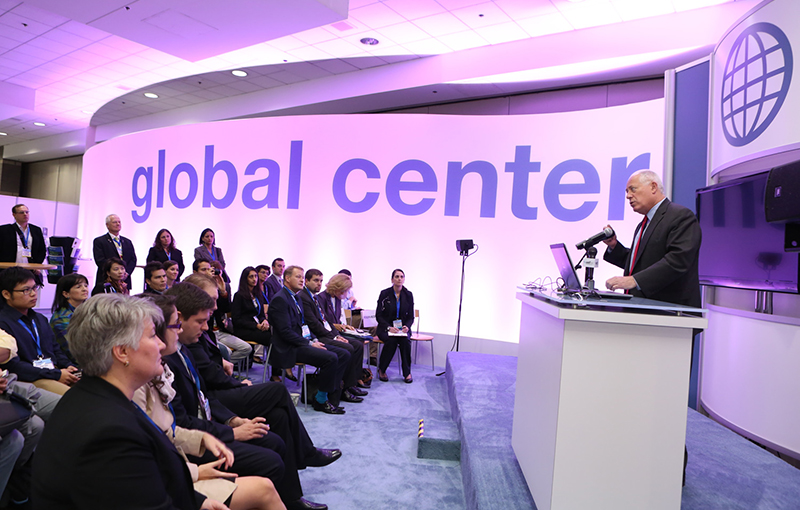 The WEFTEC Global Center provides both services to international visitors as well as additional informational programming and special events.